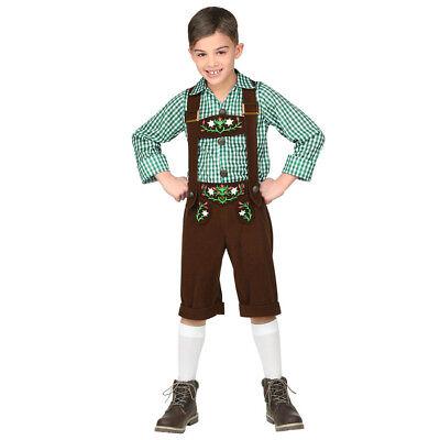OKTOBERFEST BAYER KOSTÜM KINDER Karneval Fasching Lederhose Tracht Jungen # - Jungen Lederhosen Kostüm