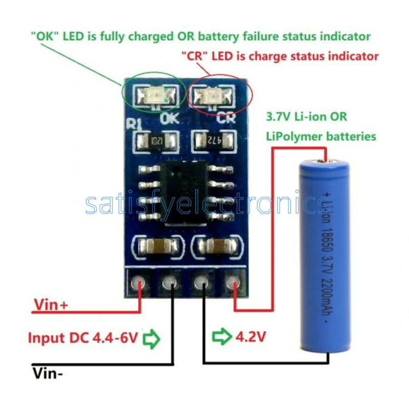 3.7V 4.2V MPPT Solar Controller Lithium Battery Charging 1A Charger Module