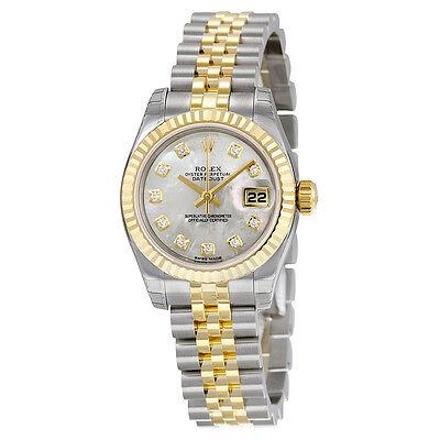 Rolex Lady Datejust Mother of Pearl Diamond Dial Two-Tone Jubilee Bracelet