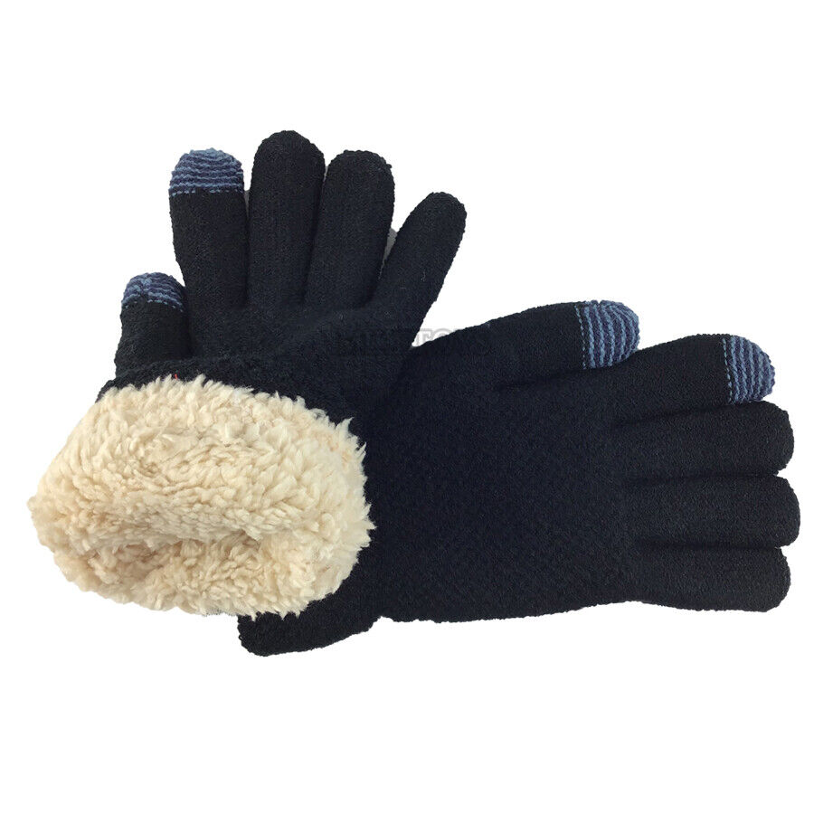 Ladies Womens Knitted Winter Extra Warm Thermal Touch screen Lined Gloves
