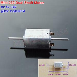 DC6V 9V 12V 13500RPM Dual Axle Shaft Micro Mini 030 DC Motor DIY Hobby Toy Model