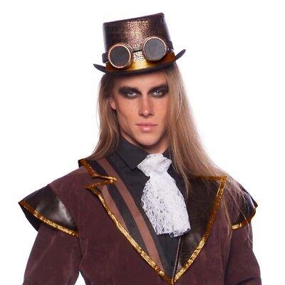 DELUXE STEAMPUNK ZYLINDER & BRILLE # Karneval Hut Viktorianisches Kostüm (Steampunk Brille Kostüm)
