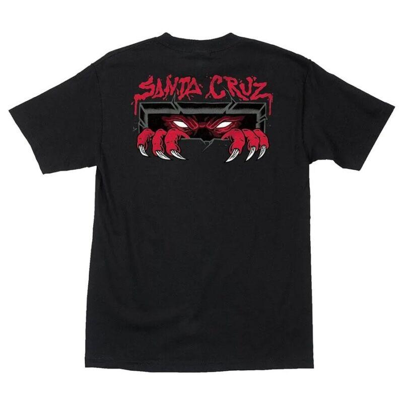 Santa Cruz UNKNOWN Skateboard T Shirt BLACK LARGE