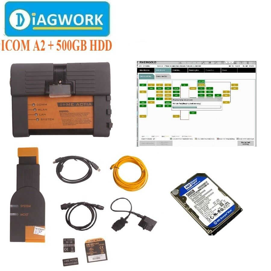 ICOM A2+B+C For BMW Diagnostic & Programming Tool With 2018.05V ISIS ISID HDD