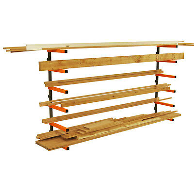 Portamate PBR-001 Wood Lumber Material Wall Mount Storage Rack  **BRAND NEW**