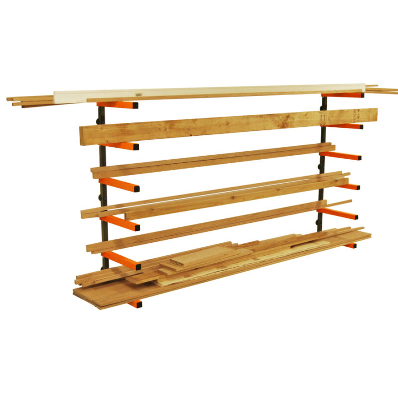 Portamate PBR-001 Wood Lumber Material Wall Mount Storage Rack  **BRAND NEW**