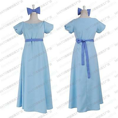 Film Peter pan wendy Rachael costume Cosplay party dress Women Long Pretty Dress
