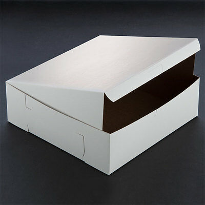 10 Count White 12x12x4 Bakery Or Cake Box