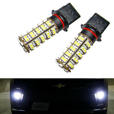 2pcs P13W 6000K White 68-SMD LED Bulbs For Chevy Camaro Fog Lamp Driving Light