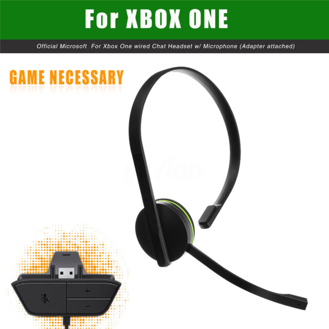 for Xbox One 120cm Wired Chat Headset Headphone Games With ...