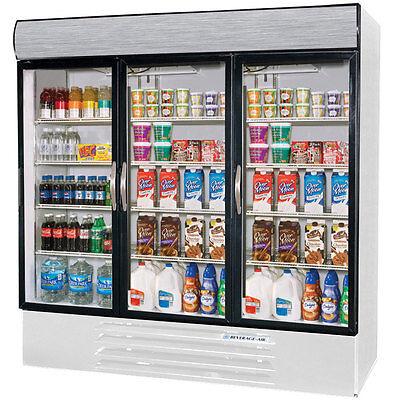 Beverage Air Mmr72hc-1-w Marketmax Three Glass Door Merchandiser Refrigerator