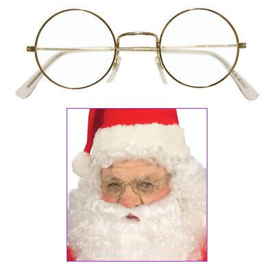 RUNDE BRILLE Karneval Weihnachten Weihnachtsmann Oma Lehrer Kostüm Party # - Oma Kostüm Brille