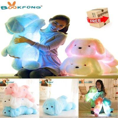 Night Light LED Dog Soft Plush Stuffed Animal Toy Doll for Kids Best Gift 50