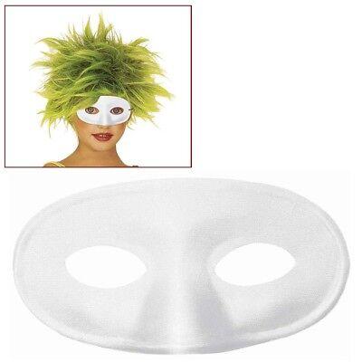 WEIßE KINDER AUGENMASKE Karneval Maskenball Venedig Clown Fee Kostüm Maske 63872