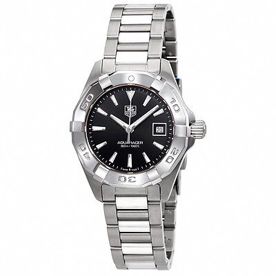 Tag Heuer Aquaracer Black Dial Stainless Steel Ladies Watch WAY1410.BA0920