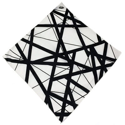 Eddie Van Halen Bandana White/Black Stripes EVH New Free Shipping](White Bandanas)
