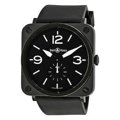 Bell and Ross Aviation Black Dial Black Ceramic Case Unisex Watch