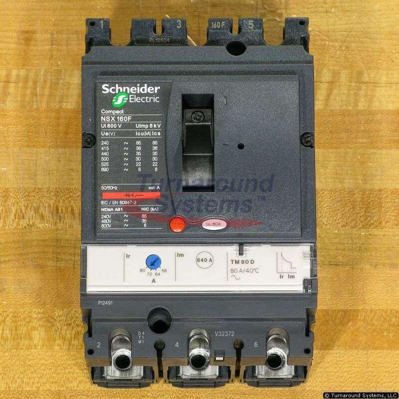 Schneider Electric NSX160F Breakers, 56, 64, 72 & 80 Amp, 35 kAIR, LV430633, NEW