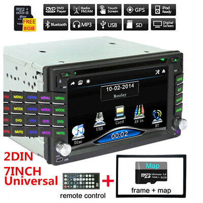 "6.2"" 2Din HD Car Stereo DVD CD Player FM Bluetooth Radio iPod GPS Navigation Kit"