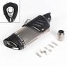 Universal Stainless Motorcycle Exhaust Pipe Muffler Tip DB w/ Carbon Fiber Mask