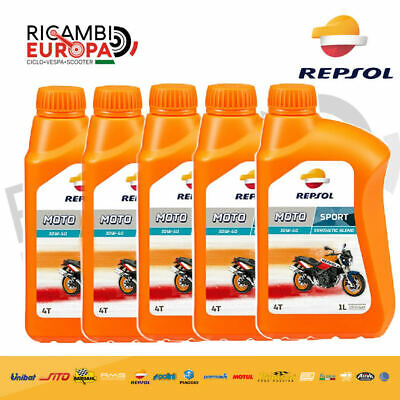 REPSOL Aceite Motor Moto Sport 4T 10W40 5 Lt Spec. Api Sl...