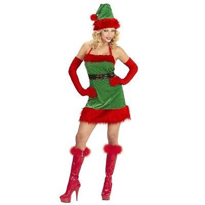 Mann Elfe Kostüm (SANTAS ELFEN DAMEN KOSTÜM Weihnachtsmann Nikolaus Helferin Wichtel Gehilfe 9873)