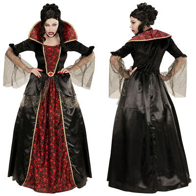 VAMPIR DAMEN KOSTÜM # Halloween Vampirin Gothic Mittelalter Kleid S-M-L-XL 0618 ()