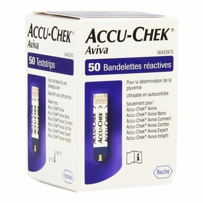 Accu Chek Aviva Blood Glucose Test Strips (50 Tests)