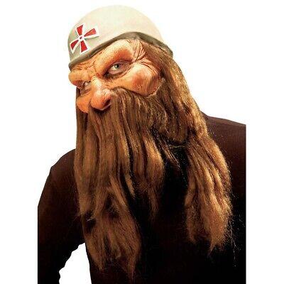 SOLDATEN MASKE & BART Halloween Zwergen Krieger Alter Mann Opa Kostüm Party - Halloween Bart Kostüm