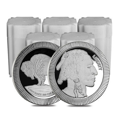 Изображение товара Lot of 100 - 1 oz Buffalo Stackable Silver Round .999 Silver (5 Lot,Tube of 20)