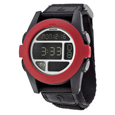 Nixon Baja Digital Black and Red Polycarbonate Mens Watch A489760