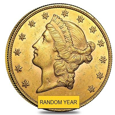 Sale Price - $20 Gold Double Eagle Liberty Head Almost Uncirculated Random Year