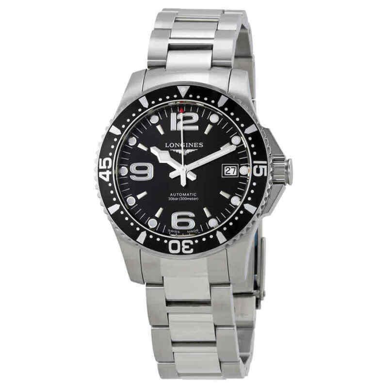 Longines HydroConquest Automatic Black Dial Men 39 mm Watch L3.741.4.56.6