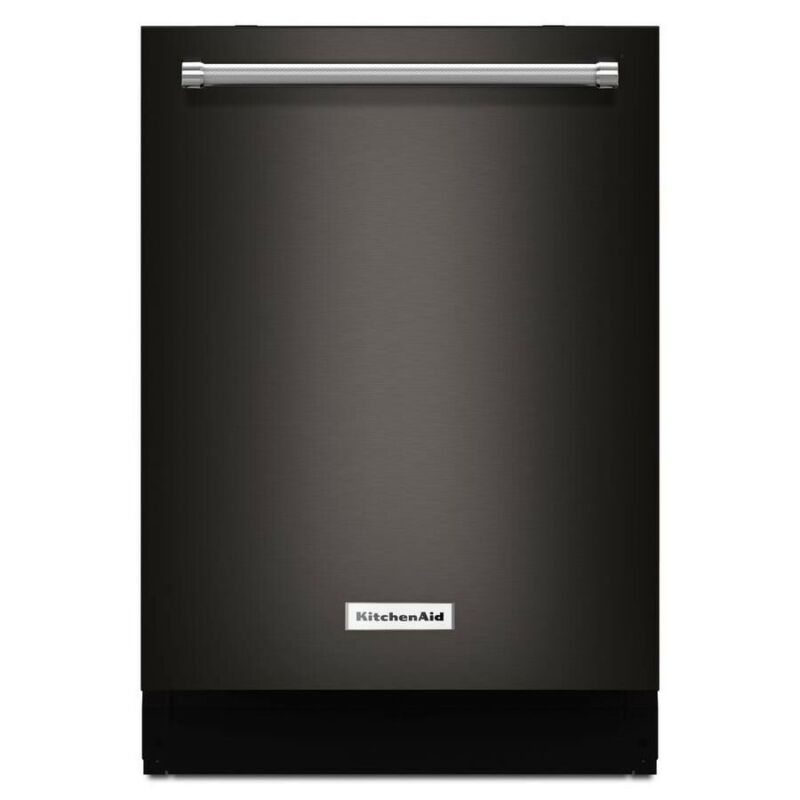 """KitchenAid 24"""" Top Control Tall Tub Built-In Dishwasher with Stainless Steel Tub Black Stainless KDTM704EBS"""