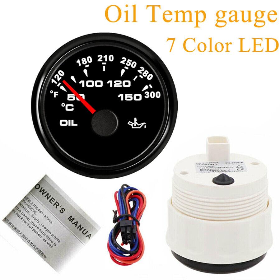 For Car Truck Boat Motorcycle 52MM Oil Temp Gauges,50-150℃,361-19ohms,9-32V