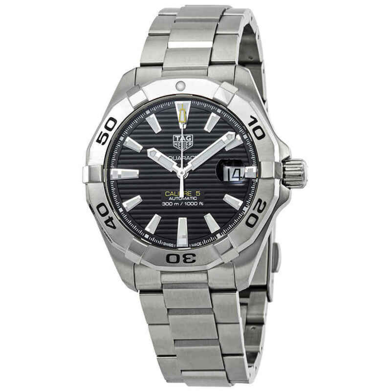 Tag-Heuer-Aquaracer-Automatic-Black-Sunray-Brushed-Dial-Men-Watch