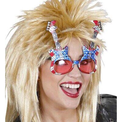 E - GITARRE BRILLE USA # 80er Rocker Musiker Instrument Sänger Kostüm Party - Kostüm Party Musiker