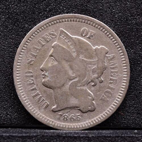 1865 Three Cent Nickel 3CN - Good (#30982)