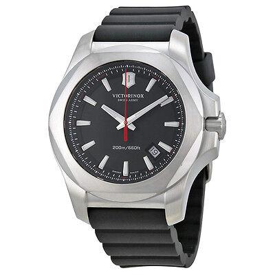 Victorinox Swiss Army Inox Black Dial Black Rubber Mens Watch 241682.1