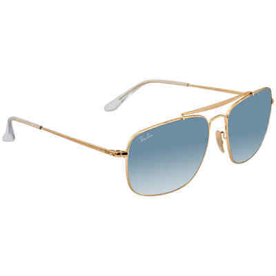 RayBan Colonel Light Blue Gradient Square Sunglasses RB3560 001/3F 61