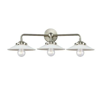 Innovations Halophane 3 Light Bath, Amber/Nickel/Frosted Cone - 284-3W-SN-G1