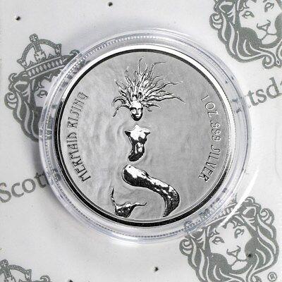 Fiji 1$ Mermaid Rising Meerjungfrau Nixe Prooflike 2018 999 Silber Silbermünze - Junge Münze
