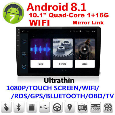 10.1in Car Android Bluetooth Stereo Radio Double 2DIN Player GPS Wifi Universal^ for sale  Canada