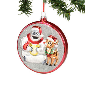 Dept-56-Christmas-Rudolph-Bumble-Glass-Ornament-New-2013