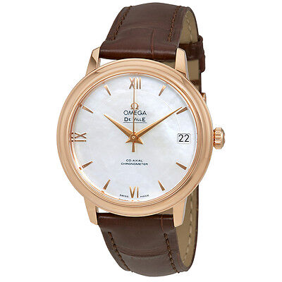 Omega De Ville Mother of Pearl Dial 18 Carat Rose Gold Case Automatic Ladies