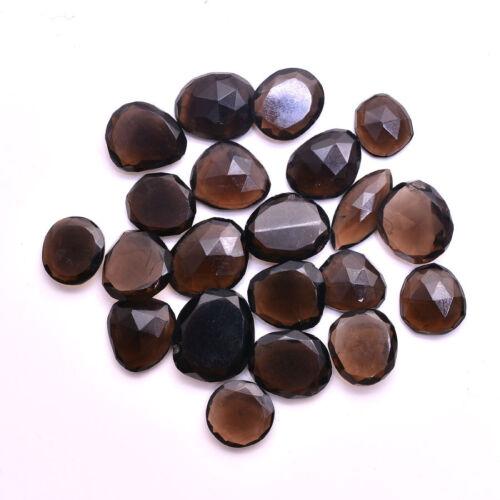 VVS 178 Ct Natural Untreated SMOKY QUARTZ Checker Cut Loose Gemstones~21 Pcs
