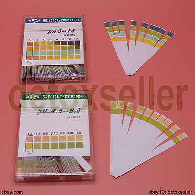100 Full Range Ph 0-14 4.5-9.0 Testing Indicator Paper Litmus Strips Universal