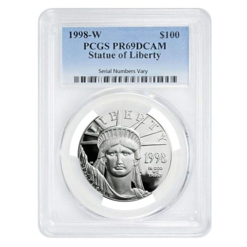 1998 W 1 oz $100 Platinum American Eagle Proof Coin PCGS PF 69 DCAM