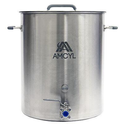 15 Gallon Stainless Steel Brew Kettle Brew Pot - Lid, Valve
