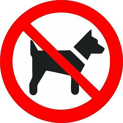 Autocollant sticker porte portail voiture magasin pelouse interdit chien panneau
